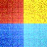Uppsättningen av vektorn mönstrar av färgrik mosaik. Arkivfoto