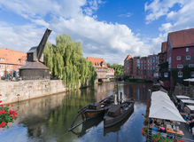 Upptäck lueneburg 09 - intrycket av historiska byggnader Arkivfoton