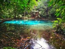 Upptäckt av Thailand, blåttpöl fotografering för bildbyråer