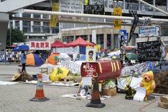 Uppta central rörelse, Hong Kong Arkivfoto