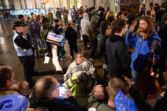 Uppta demokrati ska inte vara tyst retur till parlamentfyrkanten Royaltyfria Foton