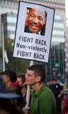 Uppta Wall Streetpersonen som protesterar Royaltyfri Bild