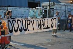 Uppta wallstreet arkivfoto