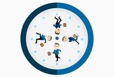 Upptagen affärsmanspring på klockan vektor illustrationer