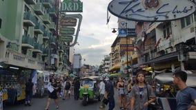 Upptagen Bangkok gata, rusning i staden Royaltyfri Bild