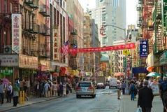upptagen chinatown dag Royaltyfri Bild
