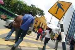 upptagen crossing Fotografering för Bildbyråer
