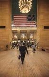 Upptagen eftermiddag på till Grand Central, NYC Fotografering för Bildbyråer