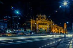 Upptagen Flindersgatastation Royaltyfria Foton