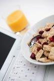 upptagen frukost Royaltyfri Bild