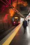 Upptagen gångtunnelplattform i Rome, Italien Royaltyfria Bilder