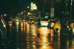 Upptagen gata Fotografering för Bildbyråer