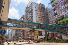 Upptagen höjdpunkt - täthetuppehälle i Hong Kong arkivfoton