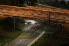 Upptagen huvudvägplanskild korsning royaltyfria bilder