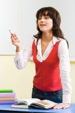 upptagen lärare royaltyfria bilder