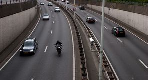 upptagen motorväg Royaltyfria Bilder