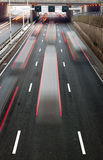 upptagen motorway royaltyfri bild