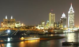 Upptagen natt i Mobil Alabama USA foto den bästa Mariusz Zajac Arkivfoton