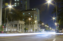 upptagen nattwaikiki Arkivbilder