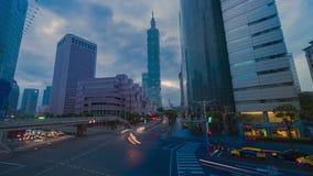 Upptagen trafik på den Taipei staden av Taiwan stock video