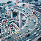 Upptagen trafikcloseup Arkivbilder