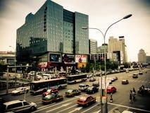 Upptagen tvärgataPeking Kina Royaltyfria Bilder
