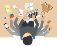 Upptaget affärsfolk som hårt arbetar vektor illustrationer
