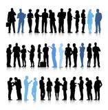 Upptaget begrepp för konversation för diskussion för affärsfolk royaltyfri illustrationer