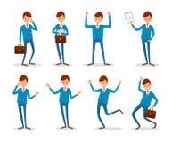 Upptaget samtal för man på telefonen med klientfolk stock illustrationer