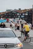 Upptaget stads- stadsliv i Köpenhamn Royaltyfri Fotografi