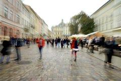 Upptaget stadsfolk Fotografering för Bildbyråer