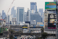Upptagna Bangkok royaltyfria bilder