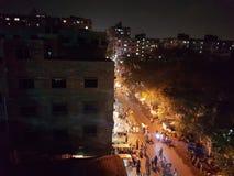 upptagna gator arkivbild