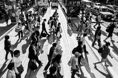 Upptagna Hong Kong Arkivbilder