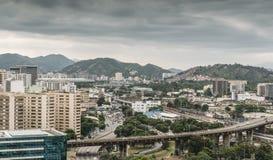 Upptagna huvudvägföreningspunkter i Rio de Janeiro, Brasilien royaltyfria bilder