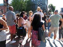 Upptagna söndag i Georgetown arkivfoton