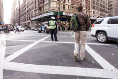 Upptagna Times Squarebyggnader i New York City, twillight arkivfoton