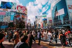 Upptagna Tokyo arkivbild