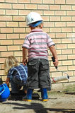 upptagna ungar Arkivfoton