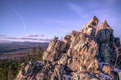 Upptill av bergen Royaltyfria Bilder
