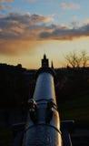 Upptill av den Calton kullen, Edinburg Arkivfoton