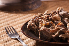 Uppu Kandam or Dried Mutton from India Royalty Free Stock Photo