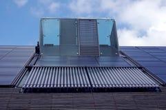 uppvärmningen panels sol- vatten royaltyfri bild