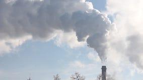 Uppvärmningkraftverk stock video