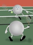 uppvaktar tennis stock illustrationer