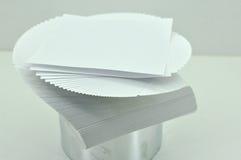 Uppvecklade ark av papper Royaltyfria Foton
