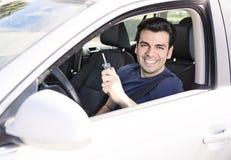 Uppvisning av nya biltangenter royaltyfri bild