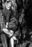 uppvisning av watchkvinnan arkivbild