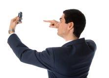 uppvisning för celltelefon arkivbilder