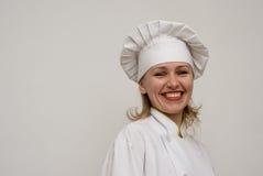 uppvisning för härlig kock för bakgrund ljus royaltyfria bilder